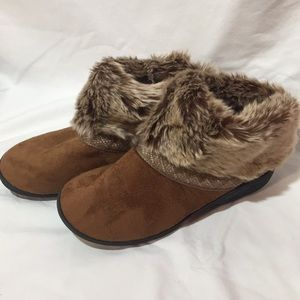Isotoner Faux Fur Boot Slippers